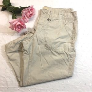 G.H. Bass & Co. Cream Crop Pants with Ties Size 6